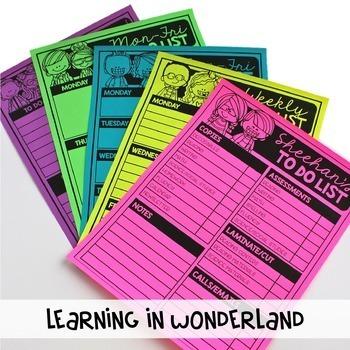 Editable Teacher Checklists {Kidlettes Edition}