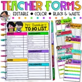 Editable Teacher Forms | Teacher Checklists