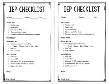 Editable Checklists for SLPs