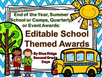 Editable Chevron Awards: End Of The Year, Event, or Academic Awards