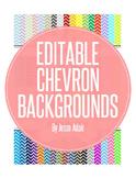 Editable Chevron Backgrounds