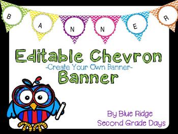 Editable Chevron Banner and Circle Cards