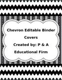 Editable Chevron Binder Covers
