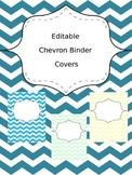 Editable Chevron Binder Covers