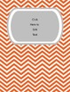 Editable Chevron Binder Covers (Colors and Text)