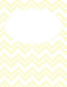 Editable Chevron Binder Covers with Feathered Brush Stroke