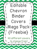 Editable Chevron Binder Covers {Freebie}