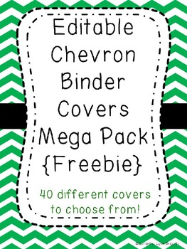 editable chevron binder covers freebie by write in the middle tpt