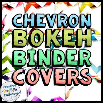 Editable Chevron Binder Covers and Spines with Bokeh