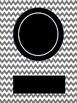 Editable Chevron Binder Covers with Circle Monogram