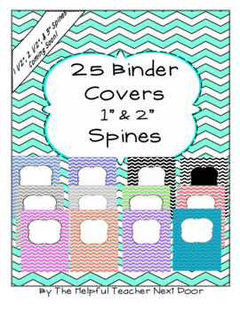 Editable Chevron Binder Covers with Spines