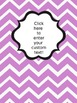 Editable Chevron Binder Labels