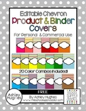 FREE Editable Chevron Binder & Product Covers {A Hughes Design}