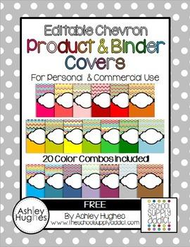FREE Editable Chevron Binder & Product Covers {A Hughes Design}