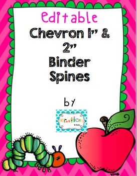 Editable Chevron Binder Spines