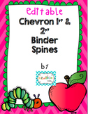 Editable Chevron Binder Spines