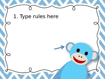 Editable Chevron Brights Rules Posters Monkeys