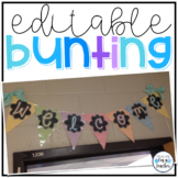 Editable Bunting Banner {Chevron Brights}