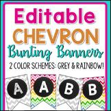 Editable Chevron Bunting Banners