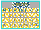 Editable Chevron Calendar Set - Cut out and personalize!