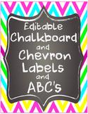 Editable Chevron Chalk Labels