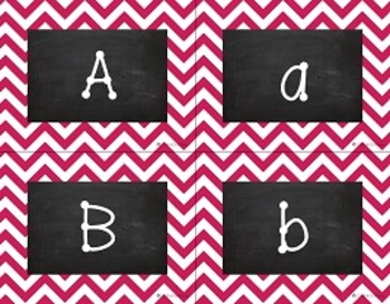 {Editable} Chevron Chalkboard Classroom Labels - Berry Pink