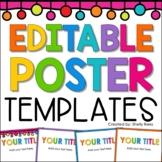 Editable Chalkboard Poster Frames