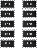 Editable Chevron Chalkboard labels