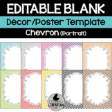 Editable Chevron Class List Posters and More PowerPoint {Portrait Version}