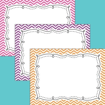 Editable Chevron Class List Posters and More PowerPoint {Landscape Version}
