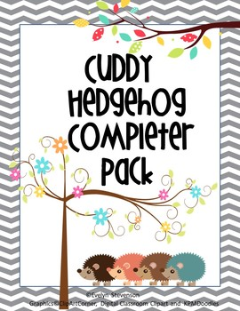 Editable Chevron Cuddly Hedgehog Completer Pack