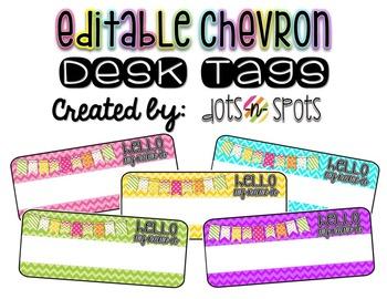Editable Chevron Desk Tags