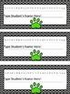 Editable Chevron Dog Paws Desk Name Plates *Cursive*