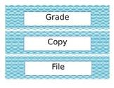Editable Chevron Drawer Labels
