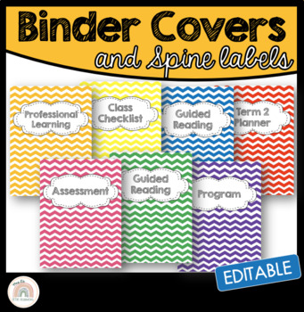 Editable Chevron Folder/Binder Covers