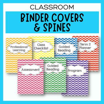 Editable Chevron Folder/Binder Covers