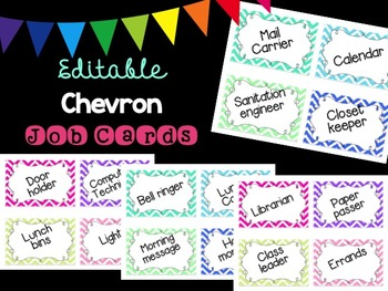 Editable Chevron Job Cards