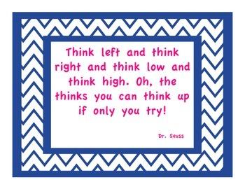 Dr. Seuss Chevron Quotes