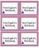 Editable Chevron Journal Labels