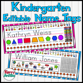 Kindergarten Editable Name Tags