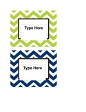 Editable Chevron Labels