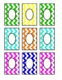 Editable Chevron Labels: Multicolor