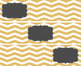 (FREE) Editable Chevron Labels in Blush, Navy, and Gold