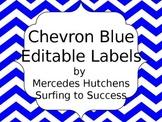 Editable Chevron Labels: Blue