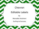 Editable Chevron Labels: Green