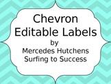 Editable Chevron Labels: Light Blue