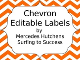Editable Chevron Labels: Orange