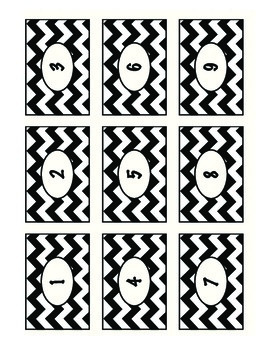 Editable Chevron Labels: Pink, White, Black