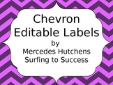 Editable Chevron Labels: Pink and Purple