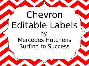 Editable Chevron Labels: Red